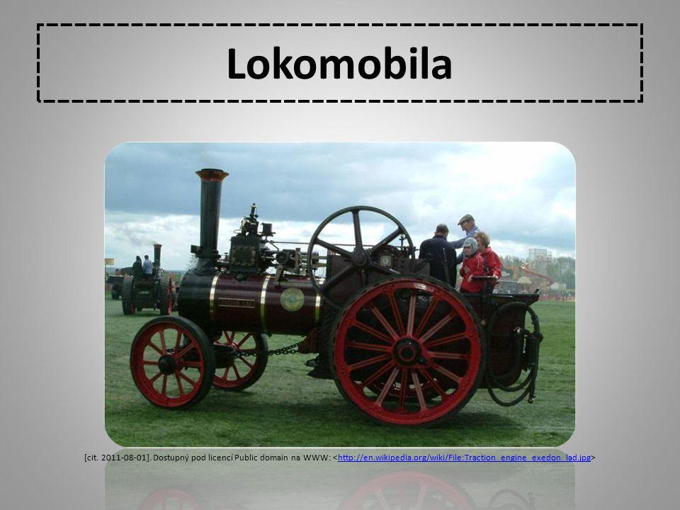 Lokomobila [cit. 2011-08-01]. Dostupný pod licencí Public domain na WWW: <http://en.wikipedia.org/wiki/File:Traction_engine_exedon_lad.jpg>